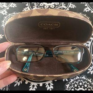 Coach Brooklyn Eye Glasses Dark tortoise & teal